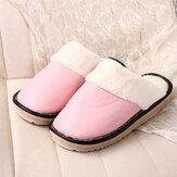 Pantoufles d'intérieur d'hiver sans dossier antidérapantes imperméables de doublure chaude de femmes