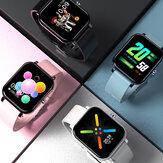 [Bluetooth Calling] Bakeey Y30 Custome Dial Music Control 1,54 inch Groot scherm Hartslag Bloeddruk Zuurstofmonitor Smart Watch