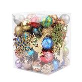 60-70 Adet Noel Top Süsler Kırılmaz Noel Topları Ev Ofis Dekorasyon Için Dekor Ağacı Topları