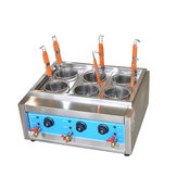 Commercial 4kw/6kw Table Top 4/6 Baskets Electric Noodles Cooker/Pasta Cooking Machine