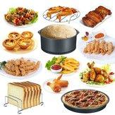 Acessórios para fritadeira de ar 20 unidades Cesta de cozimento de 8 polegadas Pizza Prato Grill Pote Cozinha ferramenta de cozinha para festa