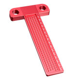 Drillpro Aluminium Alloy T-160 Hole Positioning Metric Measuring Ruler Woodworking Precision Marking Scriber
