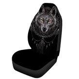 Protetor de almofada de SUV universal de capa de assento de carro de poliéster em forma de lobo Confortável