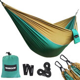 SGODDE 270X140CM Ultra-Light Camping Hammock Breathable 300KG Load Capacity Quick-drying Hanging Swing Nylon Parachute For Outdoor Indoor Travel Camping Garden Backyard