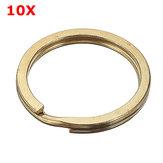 10pcs Sleutel O-ring Messing Zuivere Koper voor Handgemaakte Leer DIY Vervanging