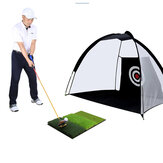 64*41CM 3-in-1 Golf Hitting Mat Multi-Function Tri-Turf Golf Practice Training for Chipping Practice Indoor/Outdoor Golf Training Tools
