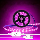 Comutador de dimmer de toque hidropônico USB Grow Light Faixa 2835 LED Faixa para Planta à prova d'água