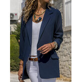 Women Autumn Office Fit Turn-Down Collar Blazers