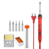 JCD 908U Elektro-Lötkolben-Werkzeugsätze 100 W 220 V / 110 V LCD Beleuchtungs-Lötstation Einstellbare Temperatur mit Lötmittelspitzen Draht