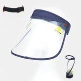 透明な防塵キャップポータブル大きなつばカバー顔の帽子空のシルクハット