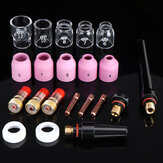 Drillpro TIG Welding Torch Nozzle Ring Cover Gas Lens Glass Cup Kit for WP17 WP18 WP26 Welding Accessories