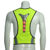 BIKIGHT Elastic LED Cycling Vest Adjustable Visibility Reflective Vest Night Sports Reflective Belt For Safety Riding Adult