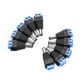 10 Pcs Caméras de vidéosurveillance 2.1mm x 5.5mm Mâle DC Power Plug Adaptateur Jack Adaptateur Connecteur Plug Socket CCTV Caméra de Sécurité Surveillance LED