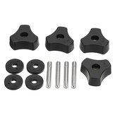 4pcs Woodworking Tool Accessory Quick Action Hold Down Clamp Handle Nut for T-Slot T-Tracks