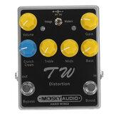 Kondansatörler / Dirençler / IC Üç Band EQ Efektleri ile Mosky TW Distortion Gitar Efekt Pedalı Yüksek Kaliteli