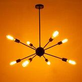 8 ~ 12 световых Винтаж промышленных металлических подвесных потолочных светильников Эдисон Лампа Кулон