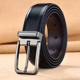 Men's Leather 105/110/115/120/125cm Pin Buckle Double-Sided Cowhide Business Jeans Suits Cowhide Belt