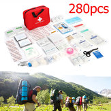 280PCS 34Types Emergency First Aid Kit Outdoor Survival Hiking Climbing Camping Rescue Kits