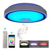 36W / 60W 110 / 220V 40cm LED Techo musical RGB Lámpara Wifi APP Control remoto Luz de techo inteligente para dormitorio en casa