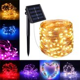10M 100LED Solar Powered 2 Modes Fée String Light Party Lampe De Noël En Plein Air Jardin Décor