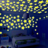 Honana DX-010 100st 3cm Fluorescerende Glow Star muursticker decor-sticker