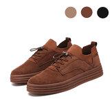 Herren Mode Casual Sneakers Flat Heel Freizeit Wanderschuhe Low Top Schnürschuh