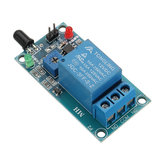 Flame Flare Detection Module Flame Sensor 12V Relay Board Infrared Receiver Module