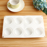 Putaran Silicone DIY Mousse Cake Mould 8 Rongga Candy Chocolate Baking Mould Tray