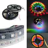 5M WS2812B 5050 RGB Impermeable IP67 150 LED Strip Light Dream Color que cambia individualmente direccionable DC 5V