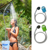 IPRee® Portable USB Shower Water Pump Rechargeable Nozzle Handheld Shower Faucet Camp Travel Outdoor Kit