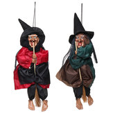 Halloween Decorations Witch Props Bright Eyes Laughing Sound Control Party Supplies