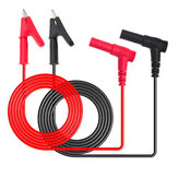 Y208 2Pcs 1M 15A Banana Plug To  Crocodile Clamp Replaceable Multimeter Probe