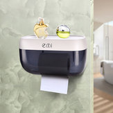 Wall-mounted Suction Tissue Dispenser Napkin Holder Box Paper Tray Roll Waterproof Toilet Paper Shelf Holder Bathroom