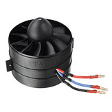 Taft Hobby 90mm 11 Blades Ducted Fan EDF Boost Version with 3560 KV1500 Brusheless Motor Support 6S for Fixed Wing RC Airplane Accessories