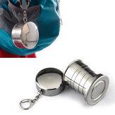 Honana HN-POC25 الفولاذ المقاوم للصدأ السفر المحمولة التخييم للطي للطي كأس معدني المياه