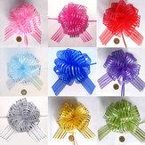 50mm Wstążki weselne z organazą we wzory Wstążki odciągające pod kokardy Ozdoby do pakowania prezentów