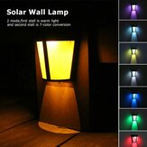 LED Solar colorful Wall Lamp Outdoor Waterproof Light Decorative Landscape Lamp for Garden , Homestays