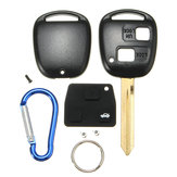 2 Button Remote Key FOB Case Shell With Keychain For Toyota Yaris Core Hatchback