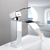 Waterfall Spout Chrome Bathroom Basin Sink Single Handle Faucet Mixer Taps