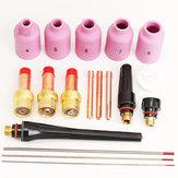18 pcs soldagem TIG tocha kit de lente de gás wp-17 wp-18 wp-26 WT20 0.04 \