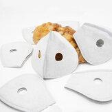 100pcs 5 couches filtre universel charbon actif anti-poussière masque facial insert-filtre