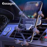 Essager Gravity Support de téléphone de voiture + câble de données Support de ventilation universel Support de voiture Clip Support de téléphone portable Support dans la voiture pour iPhone Poco X3 NFC pour Smartphone 4,7-7 pouces