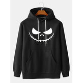Original              Mens Halloween Print Kangaroo Pocket Long Sleeve Casual Drawstring Hoodies