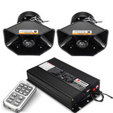 18 Sirena Loud Warning Alarm Police Siren Horn Amplificatore Car Speaker System 400W