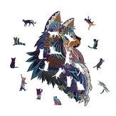 S / M / L Forma única Madera oscura Gato Rompecabezas de juguete Piezas de rompecabezas Suave y Impermeable Rompecabezas Juguetes de arte Regalos para juegos familiares