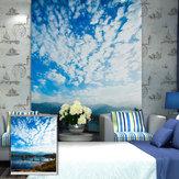 PAG Azul Sky Rodillo Persianas Imprimir pintura Rodillo Fondo ciego Pared Ventana Decoración Cortina