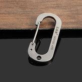 Sanrenmu sk010d aço inoxidável número zero chaveiro mosquetão ferramenta sorte