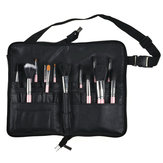 Pro 28 Pocket Makeup Brushes Bag PU Leather Apron Belt Strap Brush Holder Cosmetic Tool