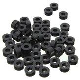 Suleve 200st platte Nylon sluitring zwarte ronde afstandsring afstandhouder bevestigingsmateriaal 7 * 4 * l