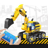 580pcs DIY Technic RC Excavator 2.4GHz Remote Control Tracked Program Engineer Car Blocks Building Model Toys